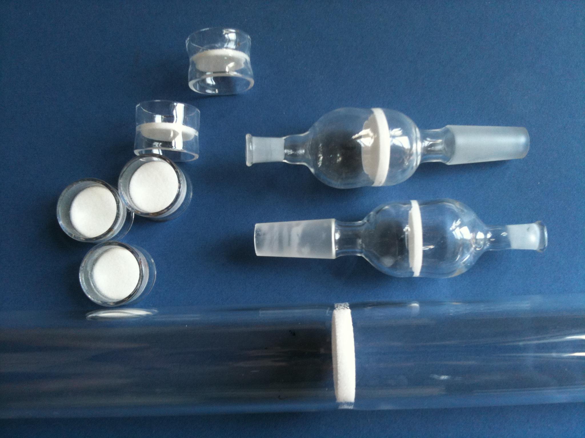 Quartz Filter. Quartz fused Sintered tubes/ Fritted Tubes